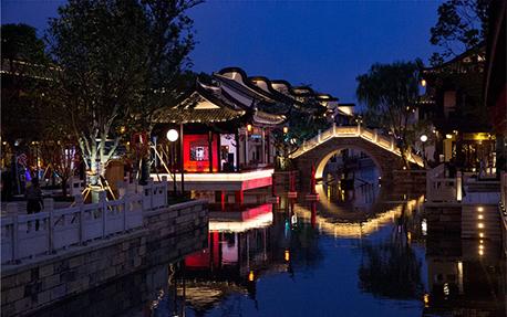 嘉善新喜塘水街亮化照明案例