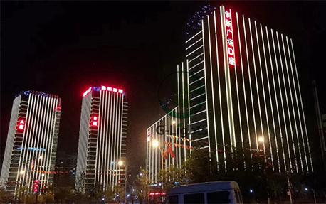 创新广场楼体亮化照明案例