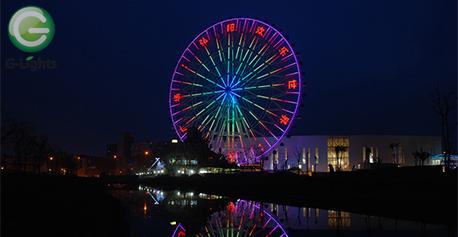 南京游乐园摩天轮照明案例