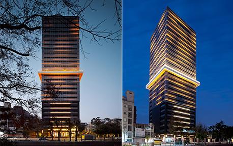 台湾新竹回建筑建筑亮化案例
