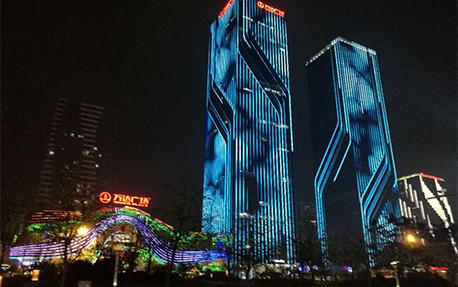 万达广场楼体亮化照明案例