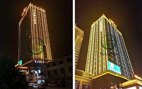 万国大酒店楼体亮化照明案例