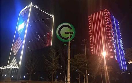南通办公楼大厦楼体亮化照明案例