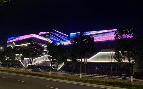 宁波膜幻展厅楼体亮化照明案例