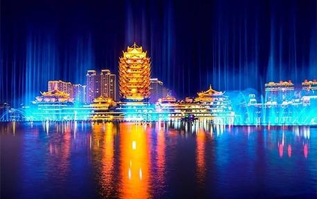 东坡城市湿地公园亮化照明案例