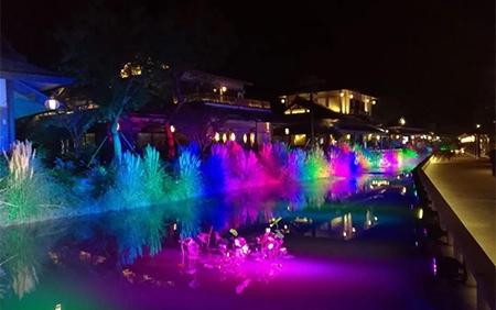 无锡灵山小镇拈花湾夜景亮化照明案例